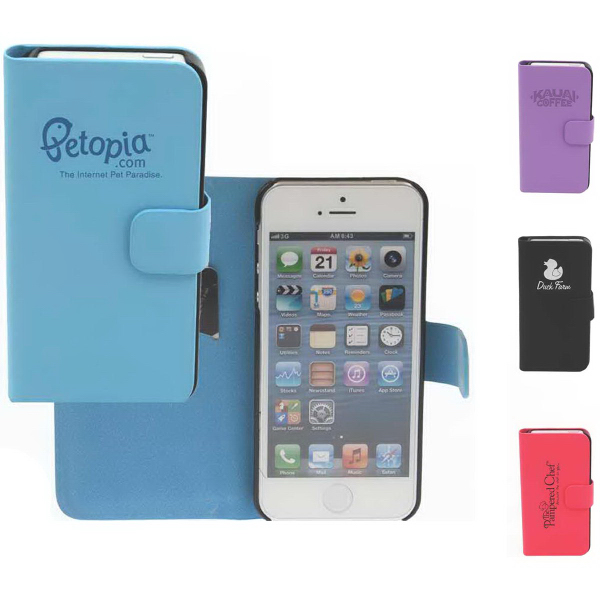 Imprinted Simulated Leather Case for iPhone 5
