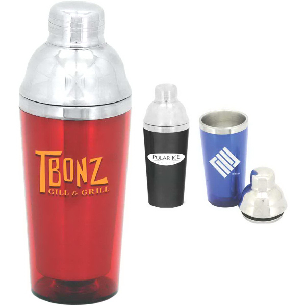 Imprinted 16 oz. Double-Wall Cocktail Shaker