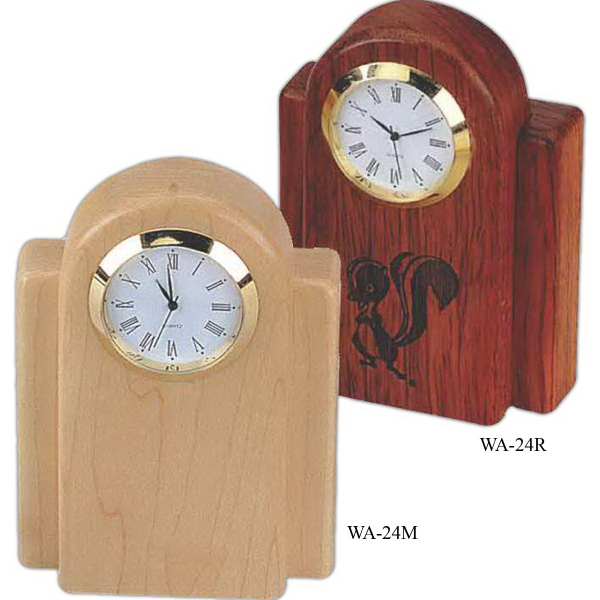 Promotional Rosewood Desk Clock
