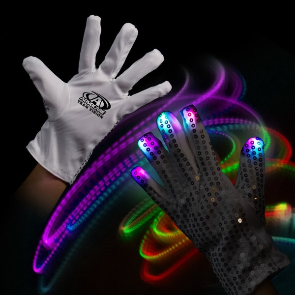 Custom Light Up LED Glow Left Hand Rock Star Glove