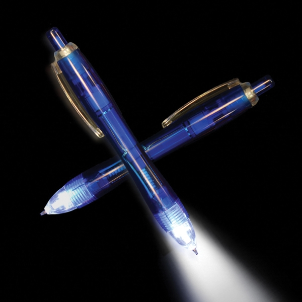 Personalized Blue Ultimate Lighted LED Glow Pen