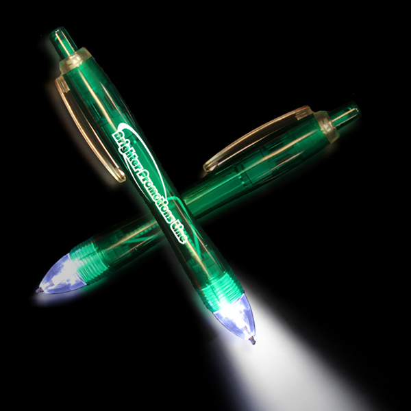 Customized Green Ultimate Lighted LED Glow Pen