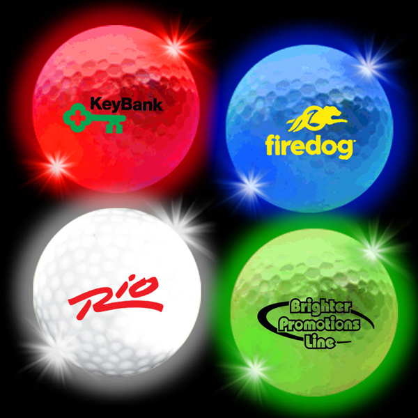 Customized Lumi Ball LED Light Up Glow Golf Balls