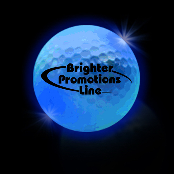 Customized Blue LED  Light Up Glow Golf Balls