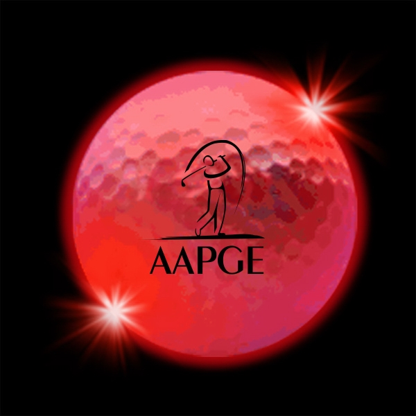 Promotional Red  LED Light Up Glow  Golf Balls