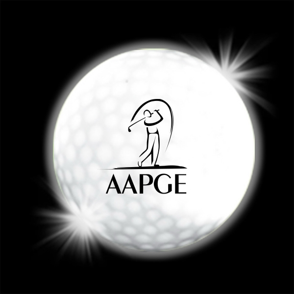 Printed White LED Light Up Glow Golf Balls