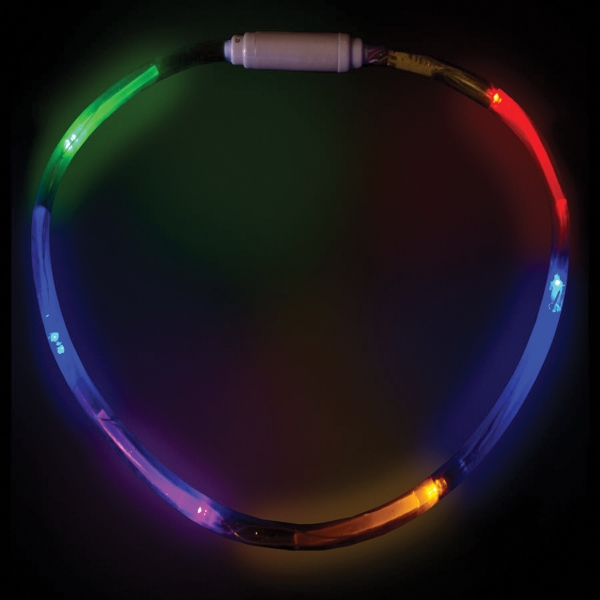 "Customized Rainbow 27"" LED Glow Light-Up Necklace Jewelry"