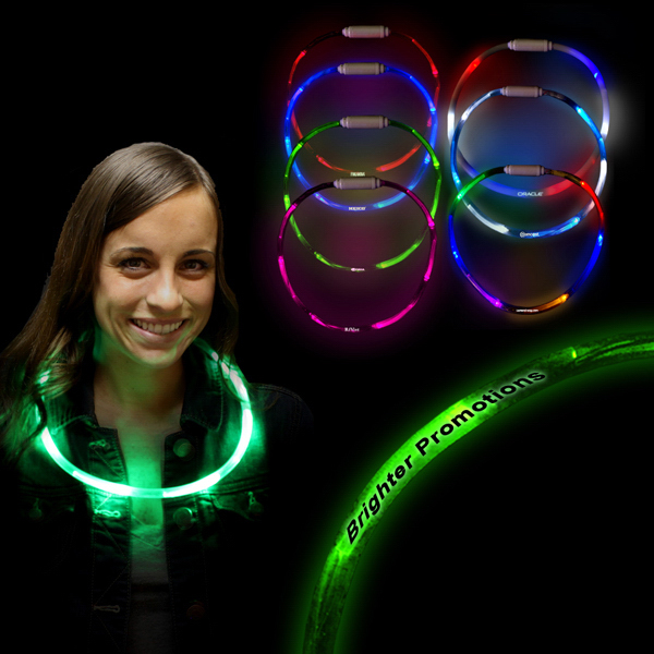 "Imprinted 27"" LED Glow Light Up Necklace"