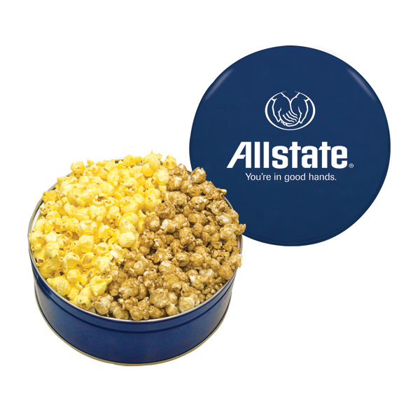 Personalized The King Size Popcorn Tin - Blue