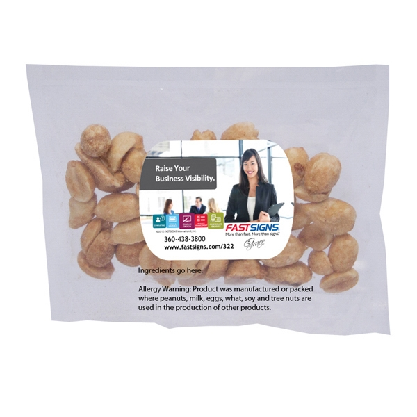 Printed Large Promo Candy Pack with Peanuts