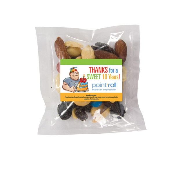 Personalized Large Promo Candy Pack with Trail Mix
