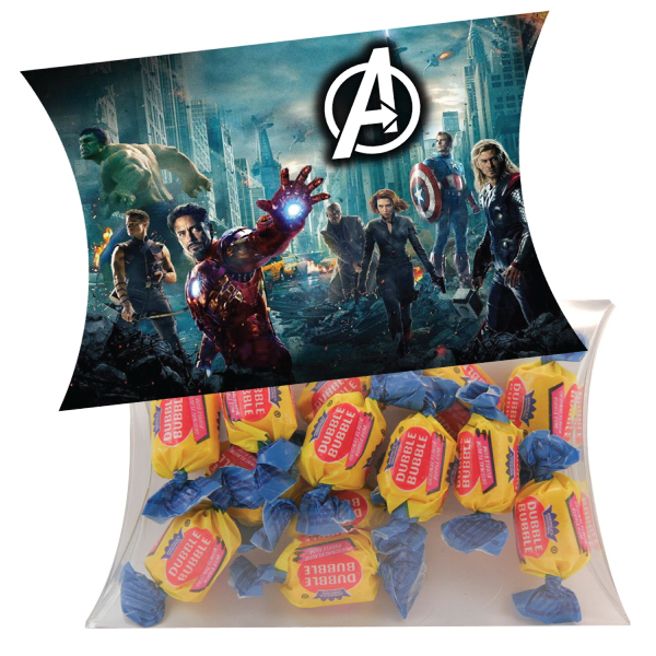 Printed Large Pillow Pack with Bubble Gum