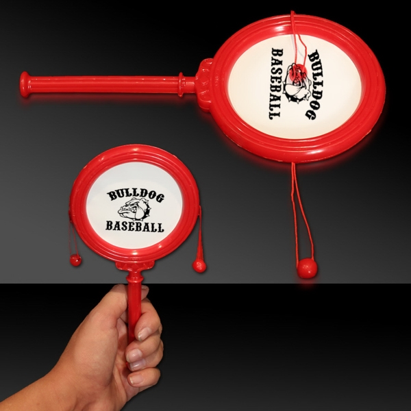 """Personalized Red 7"""" Plastic Noise Drum"""