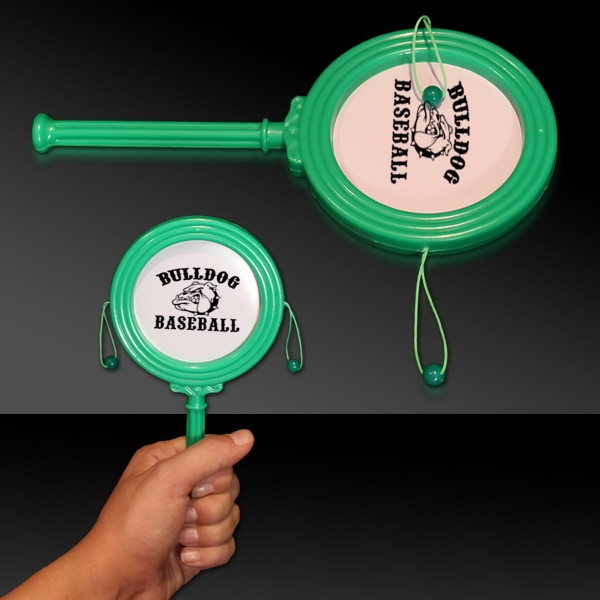"Promotional Green 7"" Plastic Noise Drum"