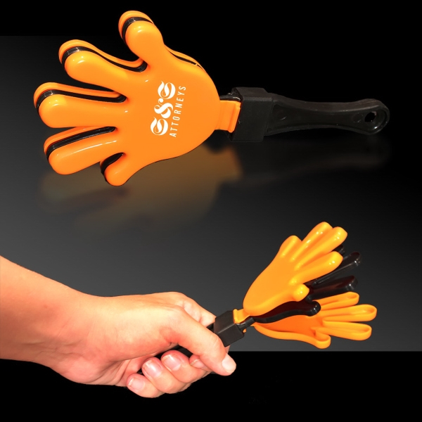 Promotional Orange Black & Orange Hand Clapper