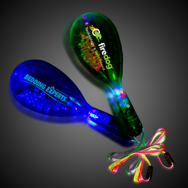 "Customized 6"" Mini Glow Light-Up Maraca"