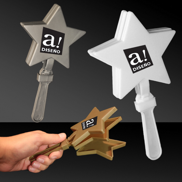 "Imprinted 7"" Star Hand Clapper"