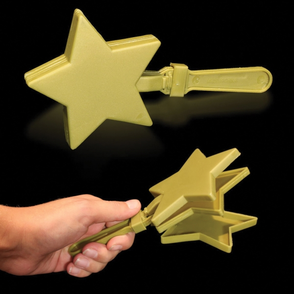 "Personalized Gold 7"" Star Hand Clapper"