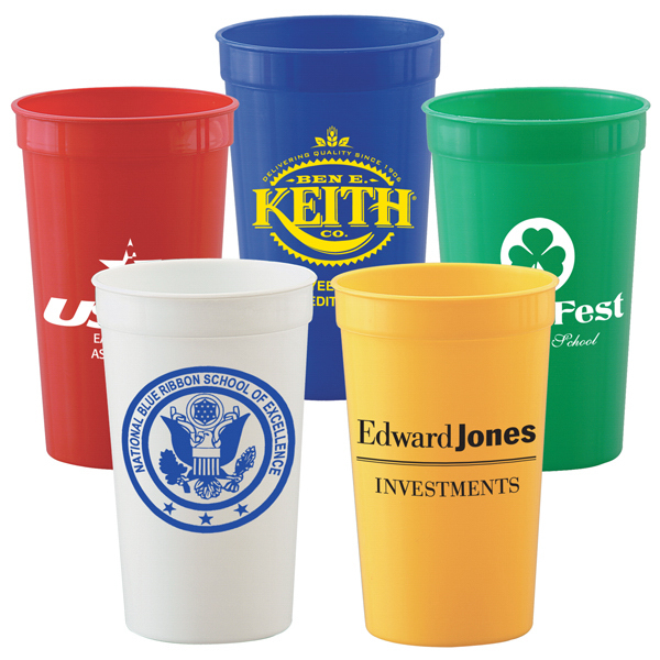Printed 22 oz. Stadium Cups - Solid Colors