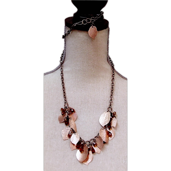 Imprinted Chilean Copper Necklace