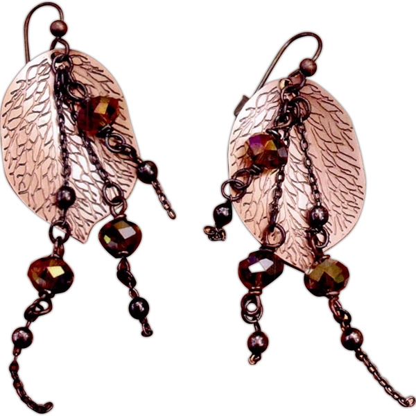 Printed Antiquo Leaf Earrings