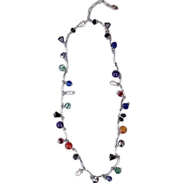 Printed Royal Jewels Necklace