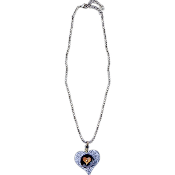 Printed Charming Heart Necklace