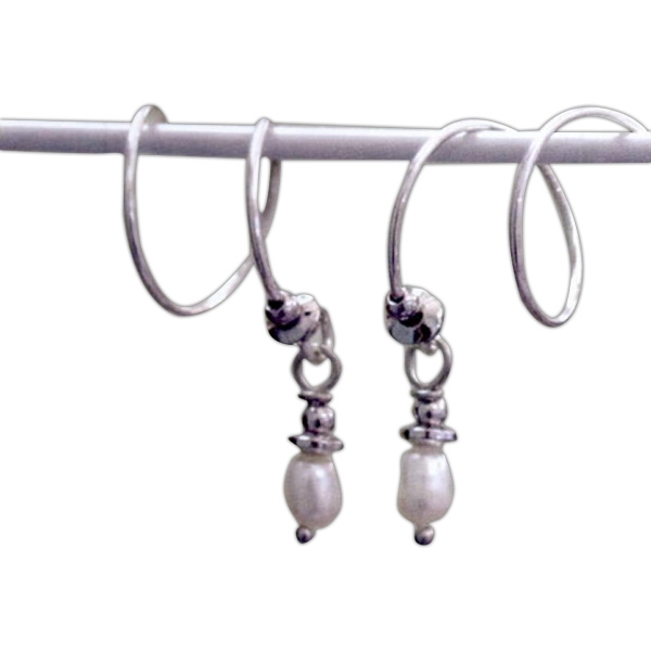 Customized Silver Freshwater Pearl Earrings