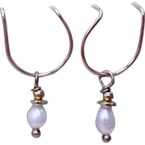 Personalized Golden Freshwater Pearl Earring