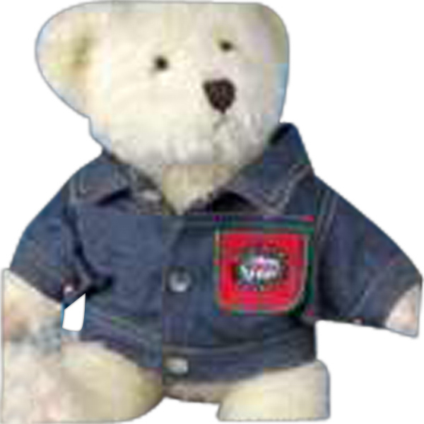 Imprinted Denim jacket for stuffed animal