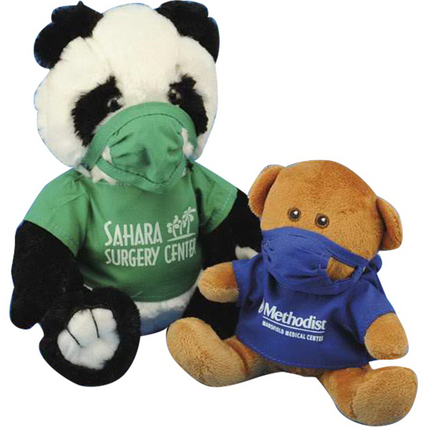 Imprinted Doctor's scrub suit for stuffed animal