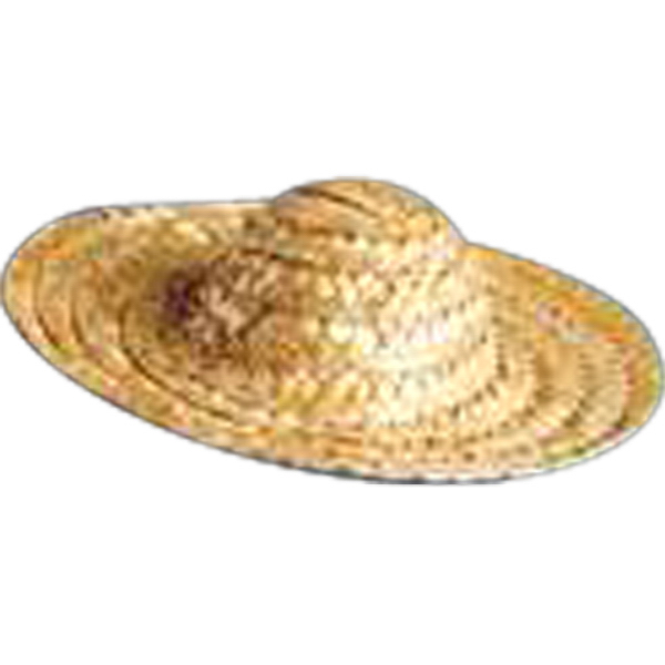 Imprinted Straw Sombrero for stuffed animal