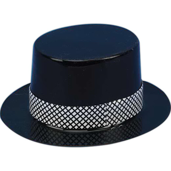 Imprinted Plastic top hat for stuffed animal