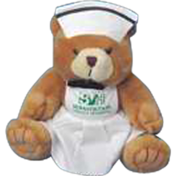 Printed Nurse uniform for stuffed animal