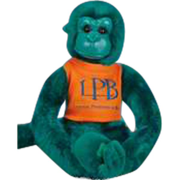 "Personalized Clingers (TM) 12"" monkey with velcro hands and feet"