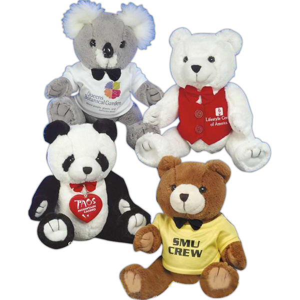 "Personalized Good-Buy Panda Bears (TM) 24"" stuffed panda with bowtie"