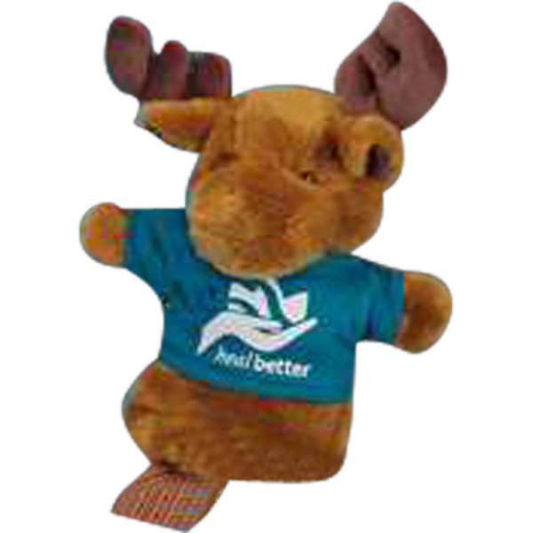 "Imprinted Golf Club Cover/Hand Puppets (TM) 10"" stuffed moose"