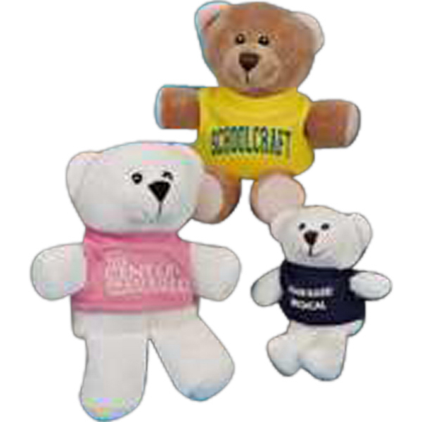 "Imprinted Teen-Kuddles (TM) 4.5"" stuffed bear"