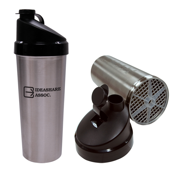 Printed 30oz./887ml Stainless Steel Protein Shaker w/ Blender Screen
