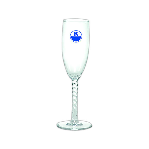 Customized Fluted Champagne Glass
