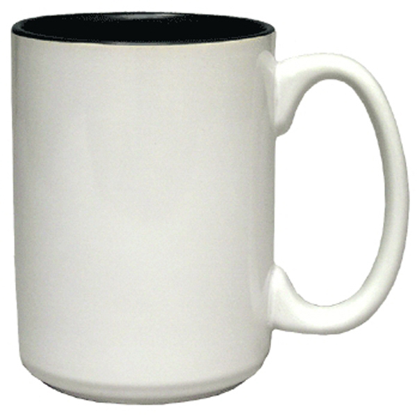 Customized Ceramic Two Tone El Grande Coffee Mug