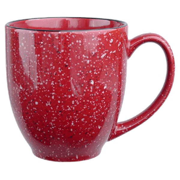 Imprinted Santa Fe Ceramic Bistro Coffee Mug