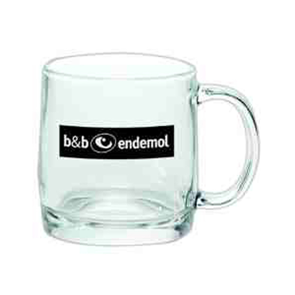Imprinted Glass coffee Mug