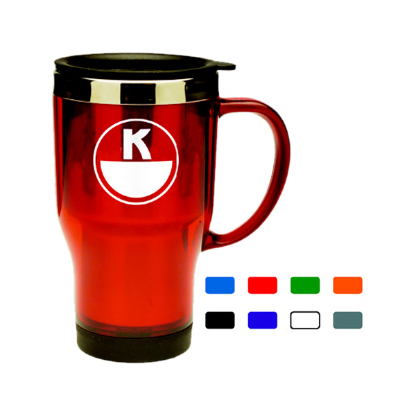 Imprinted Acrylic & Stainless Travel Mug