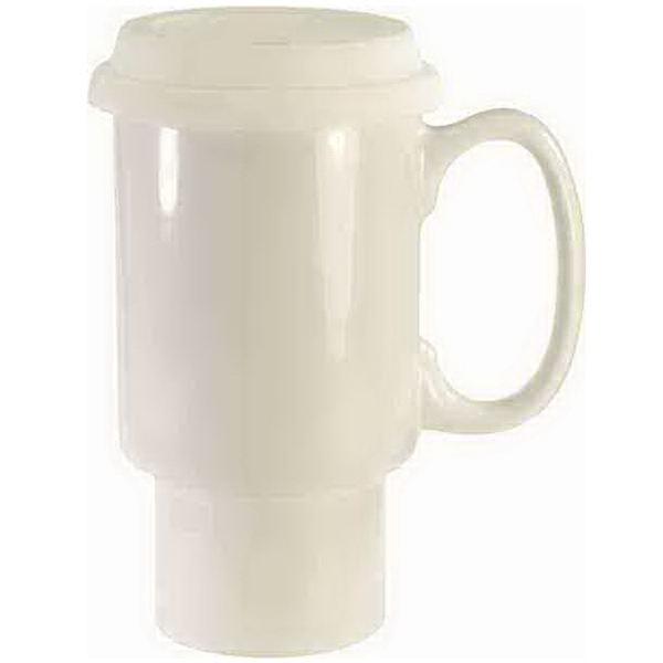 Promotional Ceramic Travel Mug With Handle