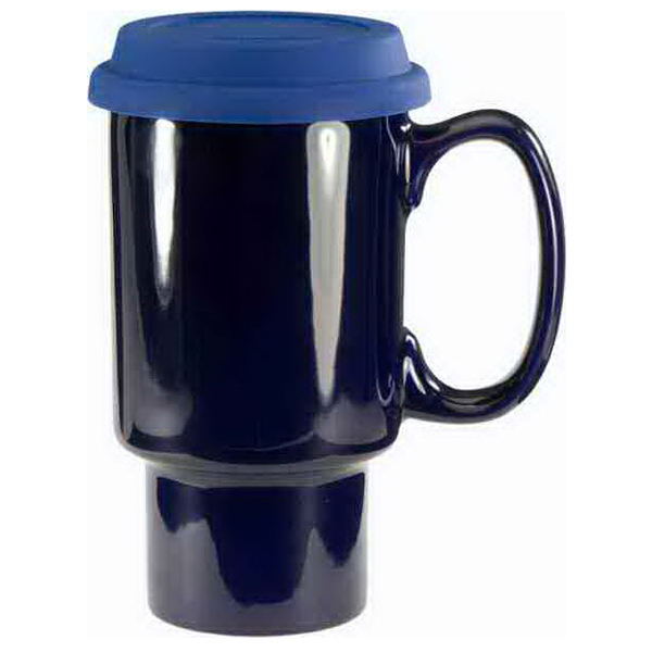Printed Ceramic Travel Mug With Handle