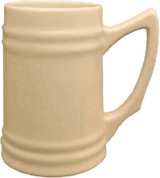 Imprinted Ceramic Beer Stein
