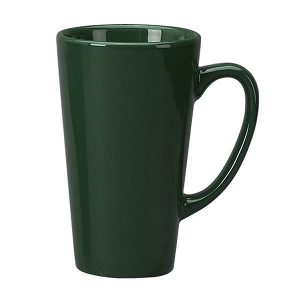 Personalized Vitrified Ceramic Topeka Funnel Latte Mug