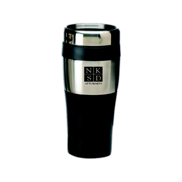 Printed Stainless And Plastic Travel Tumbler