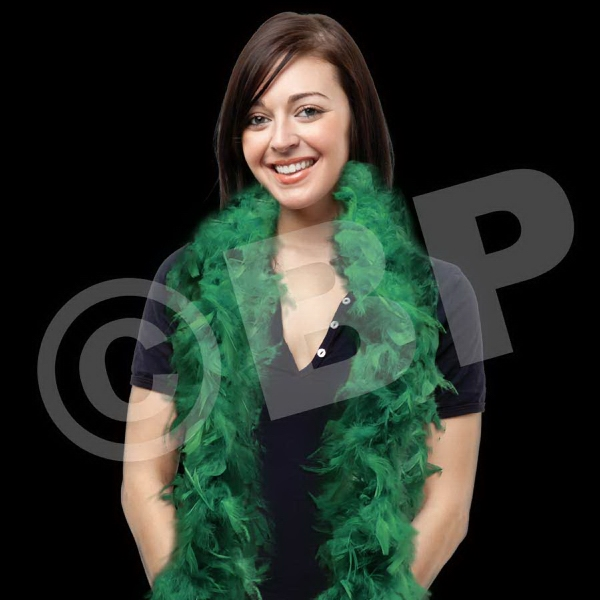 Custom Green Adult Size Feather Boa